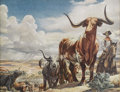 Texas:Early Texas Art - Regionalists, TOM LEA (1907-2007). Trail Herd. Color lithograph on paper.10-1/2 x 14 inches (26.7 x 35.6 cm). Signed lower right in t...