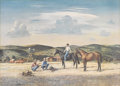 Texas:Early Texas Art - Regionalists, PETER HURD (1904-1984). Untitled Ranch Scene. Color lithograph onpaper. 15-1/2 x 22 inches (39.4 x 55.9 cm). Signed lower l...