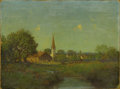 Paintings, JULIAN ONDERDONK (1882-1922). Untitled Pioneer Church. Oil on Academy Board. 9 x 12 inches (22.9 x 30.5 cm). Signed lower le...