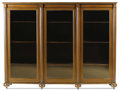 Furniture : American, An American Mahogany Display Cabinet. . Unknown maker, American. Circa 1930. Mahogany, glass. Unmarked. 51.75 inches high x ...
