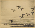 Texas:Early Texas Art - Impressionists, REVEAU BASSETT (1897-1981). Eleven O'Clock Flight, 1940.Lithograph. 9-1/2 x 11-1/2 inches (24.1 x 29.2 cm). Signed and ...