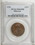 Colonials: , 1723 1/2P Hibernia Halfpenny MS63 Red and Brown PCGS. PCGSPopulation (7/24). (#181)...