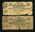 Confederate Notes:1862 Issues, T42 $2 1862 AG. T43 $2 1862 AG.. . ... (Total: 2 notes)