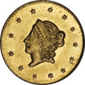 California Fractional Gold, 1871 $1 Liberty Round 1 Dollar, BG-1201, High R.6, AU58 ProoflikeNGC....
