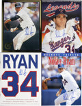 Autographs:Letters, Nolan Ryan Signed Publications Lot of 4. Member of the BaseballHall of Fame and hard throwing righty, Nolan Ryan adorns th...