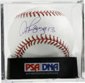 "Autographs:Baseballs, Alex Rodriguez ""#13"" Single Signed Baseball, PSA Gem Mint 10.Perfect exemplar from the important home run slugger. Ball has..."
