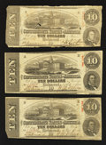 Confederate Notes:1863 Issues, T59 $10 1863.. ... (Total: 3 notes)