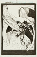 Original Comic Art:Splash Pages, Mark Texeira Moon Knight #4 Splash Page 1 Original Art(Marvel, 1999)....