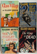 Books:Mystery & Detective Fiction, Ellery Queen. Lot of Four First editions. Near fine. Unlessotherwise noted, all volumes are first edition, first printing, ...(Total: 4 Items)