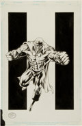Original Comic Art:Splash Pages, Michael Bair Martian Manhunter Pin-Up Original Art(2000)....