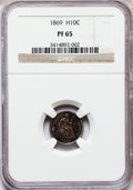 Proof Seated Half Dimes, 1869 H10C PR65 NGC....