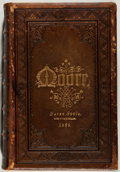 Books:Literature Pre-1900, Thomas Moore. The Poetical Works. New Edition. Leatherbinding. Very good. Unless otherwise noted, all volumes are f...