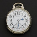Timepieces:Pocket (post 1900), Hamilton 21 Jewel Movement In A Sangamo Special Stiff Bow Case Pocket Watch. ...