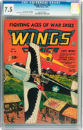Golden Age (1938-1955):War, Wings Comics #38 (Fiction House, 1943) CGC VF- 7.5 Cream tooff-white pages....