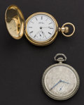Timepieces:Pocket (post 1900), Two Elgin's Pocket Watches 7 & 17 Jewel Runners. ... (Total: 2Items)