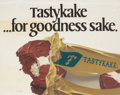 "Mainstream Illustration, RUDY GARCIA (American, 20th Century). ""Tastykake...For GoodnessSake"", Tastykake advertisement. Appliqués and gouache on..."