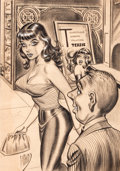 "Pulp, Pulp-like, Digests, and Paperback Art, BILL WARD (American, 1919-1998). ""I Would Like to Add, Tessie,That You're Also Tremendous!"", cartoon illustration. Char..."