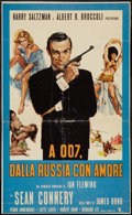 "Movie Posters:James Bond, From Russia with Love (United Artists, 1964). Italian Locandina(11"" X 18""). James Bond.. ..."