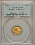 Commemorative Gold, 1922 G$1 Grant With Star MS64 PCGS....