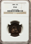 Proof Seated Quarters, 1884 25C PR65 NGC....