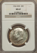 Kennedy Half Dollars, 1966 50C SMS MS67 NGC. NGC Census: (2/0). PCGS Population (3/1).Mintage: 108,984,928. (#6709)...