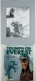 Autographs:Celebrities, Sir Edmund Hillary Signed Photograph. ... (Total: 2 Items)