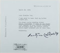 Autographs:Authors, Erskine Caldwell (1903-1987, American Writer). Typed Letter Signed. Envelope included. Fine....