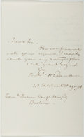 Autographs:Statesmen, Richard Henry Dana, Jr. (1815-1882, American Lawyer and Politician). Autograph Letter Signed. Near fine....
