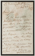 Autographs:Artists, George Cruikshank (1792-1878, British Illustrator). AutographLetter Signed. Very good....