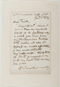 Autographs:Artists, George Cruikshank (1792-1878, British Illustrator). Typed Letter Signed. Very good....