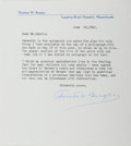 Autographs:Authors, Thornton Burgess (1874-1965, American Writer). Typed Letter Signed. Fine....