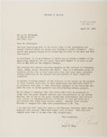 Autographs:Authors, Pearl S. Buck (1892-1973, American Writer). Typed Letter Signed. Near fine....