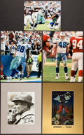 Football Collectibles:Photos, Dallas Cowboys Legends Signed Photographs Lot of 7....