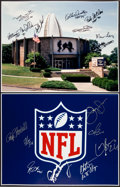 Football Collectibles:Photos, Football Greats Signed Prints Lot of 6....