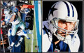 Football Collectibles:Photos, Tony Romo and Julius Jones Signed Oversized Photographs Lot of 2....