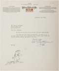 Autographs:Authors, Chas. L. Bartholomew (American Editor). Typed Letter Signed. Verygood....