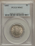 Liberty Nickels: , 1895 5C MS62 PCGS. PCGS Population (37/288). NGC Census: (30/255).Mintage: 9,979,884. Numismedia Wsl. Price for problem fr...