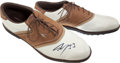 Basketball Collectibles:Others, Shaquille O'Neal Signed Size 22 Golf Shoes....