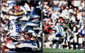 Football Collectibles:Photos, Michael Irvin and Herschel Walker Signed Oversized Photographs Lotof 2....