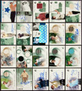 Football Cards:Singles (1950-1959), 2002 and 2003 Upper Deck Golf Signed/Shirt Swatch Cards (21). . ...