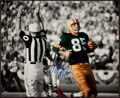Football Collectibles:Photos, Max McGee Signed Oversized Photograph - Shot from 1st Ever Super Bowl Touchdown! ...