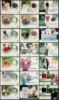 Golf Cards:General, 2002 and 2003 Upper Deck Golf Signed/Shirt Swatch Cards (21). ...
