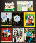 Golf Collectibles:Autographs, Golf Stars Signed Memorabilia Lot of 8....