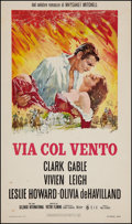 "Movie Posters:Academy Award Winners, Gone with the Wind (Selznick, R-1968). Italian Locandina (13"" X27""). Academy Award Winners.. ..."