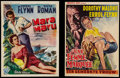 """Movie Posters:Adventure, Mara Maru and Other Lot (Warner Brothers, 1952). Belgian Posters(2) (13"""" X 18.25"""", and 14.25 X 18.5""""). Adventure.. ... (Total: 2Items)"""