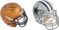 Football Collectibles:Helmets, Roger Staubach and Troy Aikman Signed Mini Helmets Lot of 2....