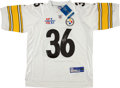 Football Collectibles:Uniforms, Jerome Bettis Signed Pittsburgh Steelers Jersey....