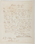 Autographs:Authors, Charles Farrar Browne [Artemus Ward] (1834-1867, American Writer). Autograph Letter Signed. Very good....
