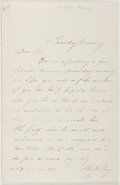 Autographs:Authors, Phoebe Cary (1824-1871, American Poet). Autograph Letter Signed.Very good....
