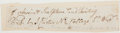 Autographs:Artists, James Carter (1798-1855, British Engraver). Clipped Signature. Very good....